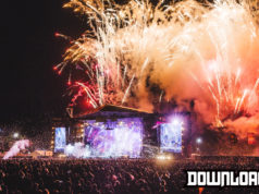 Download Festival night time stage
