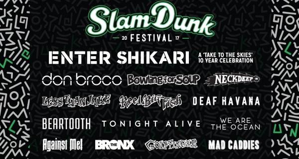 Slam Dunk Festival 2017 End Of Feb Line Up Poster Header Image