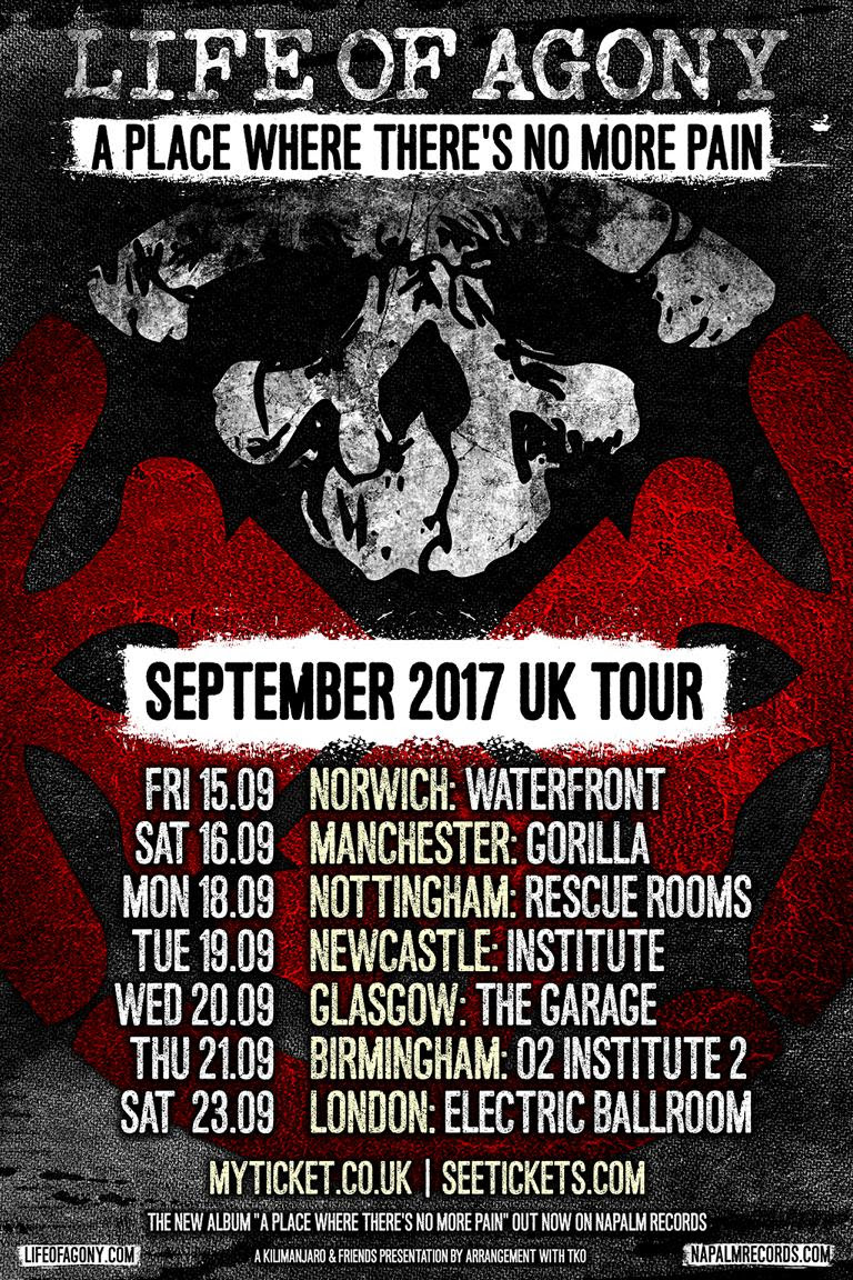 Life Of Agony Announce September 2017 Uk Tour