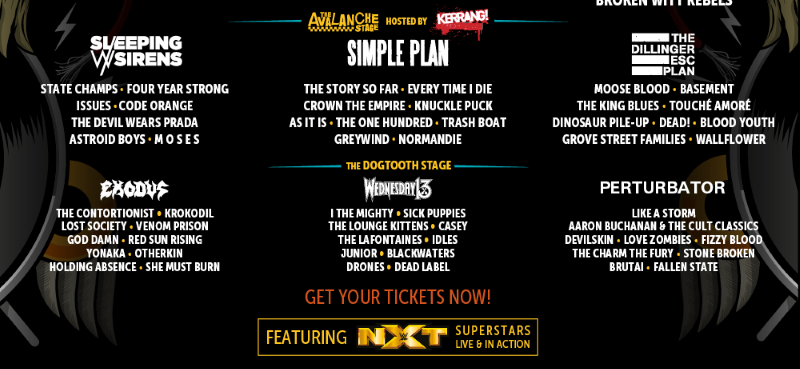Download Festival 2017 Final Line Up Avalanche Dogtooth Stage Header