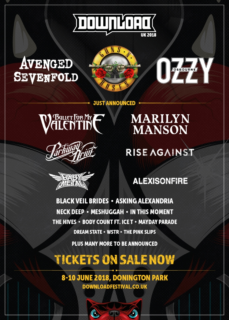 Download Festival 2018 Second Line Up Poster