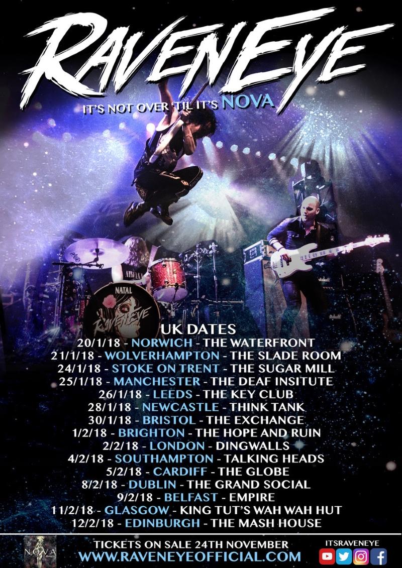 RavenEye 2018 UK Tour Poster