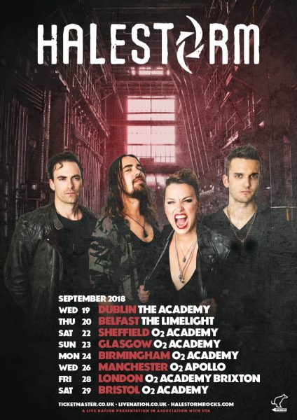 Halestorm UK Ire Admat September 2018 Tour