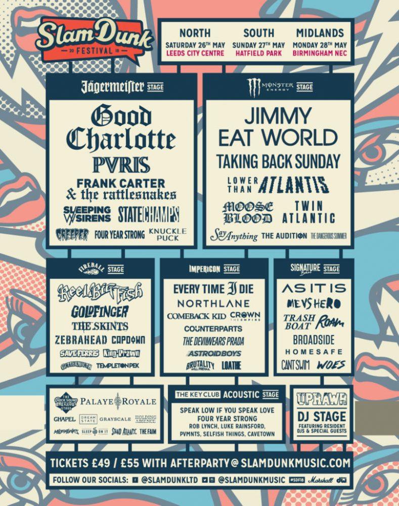 Slam Dunk Festival 2018 Full Lineup Poster