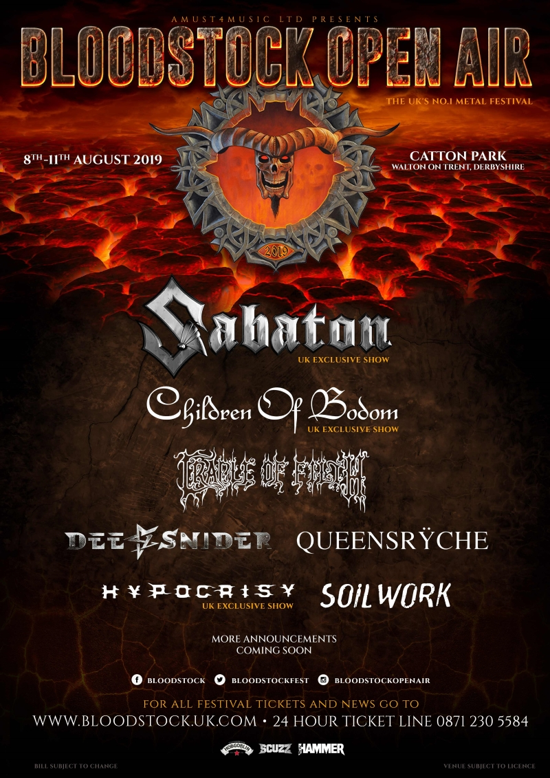 Bloodstock Open Air Festival 2019 BOA poster 9 Oct 2018