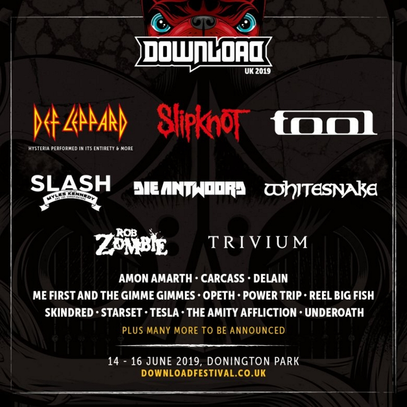 Download Festival 2019 First Line Up Poster Wide