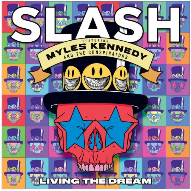 Slash Myles Kennedy Living The Dream Album Cover Artwork