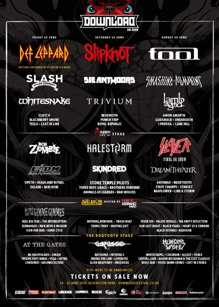 Download Festival 2019 January Halestorm Line Up Poster