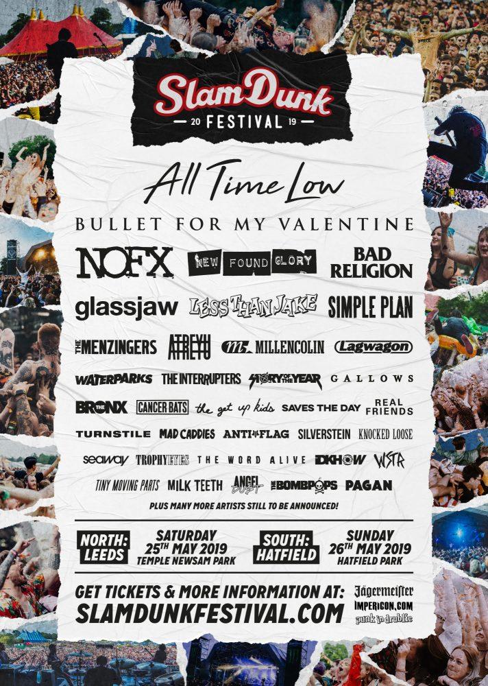 Slam Dunk Festival 2019 January Line Up Poster