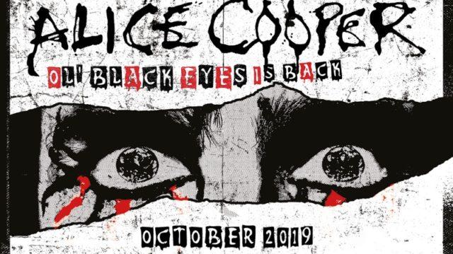Alice Cooper Ol Black Eyes Is Back 2019 UK Tour Header
