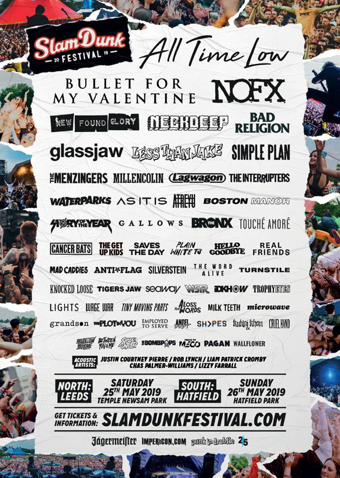 Slam Dunk Festival 2019 Final Line Up Poster