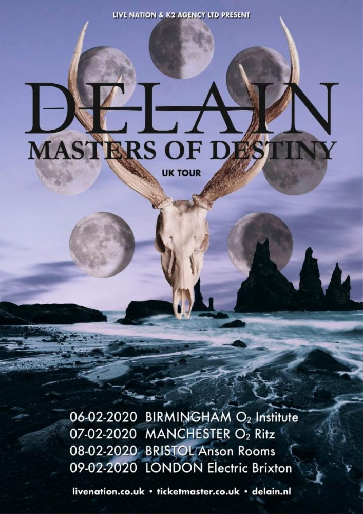Delain UK Tour Poster February 2020