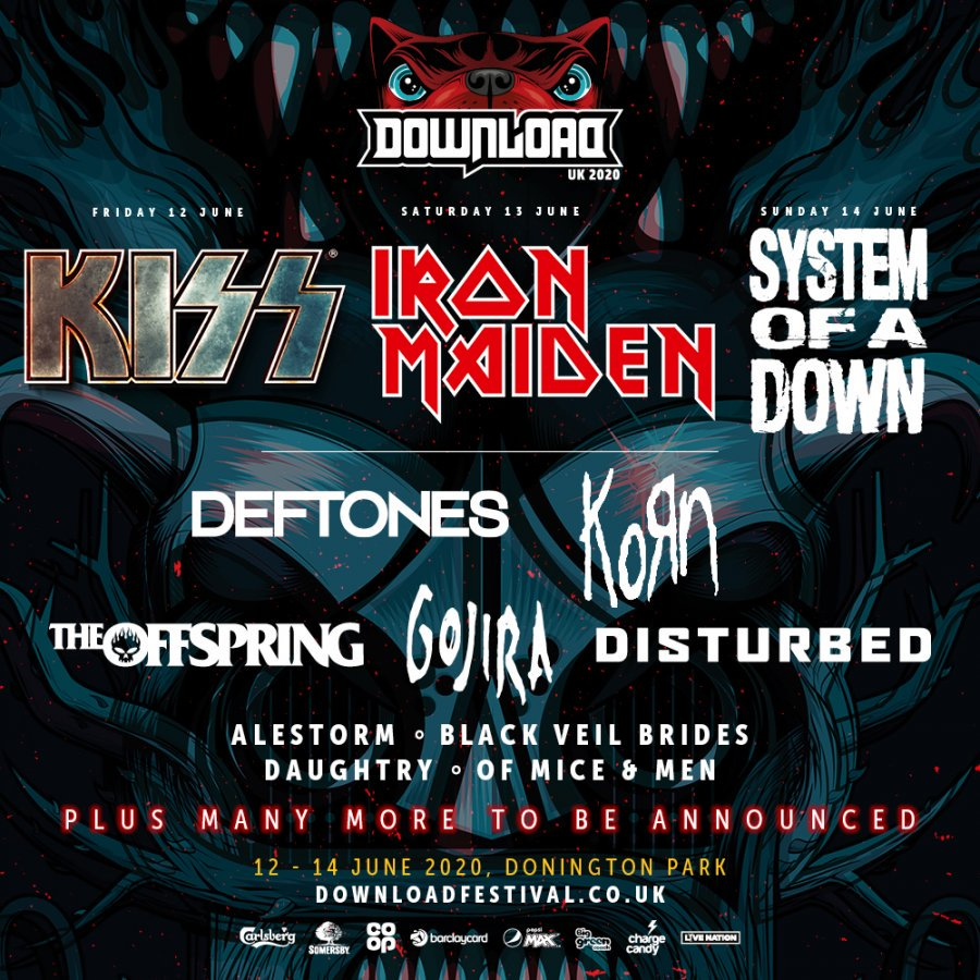 Vans Warped Tour Lineup 2020.Download Festival 2020 Confirm Iron Maiden Kiss Soad To