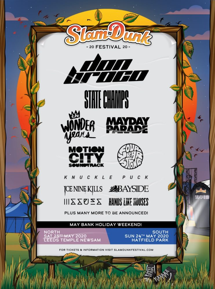Slam Dunk Festival 2020 First Line Up Poster