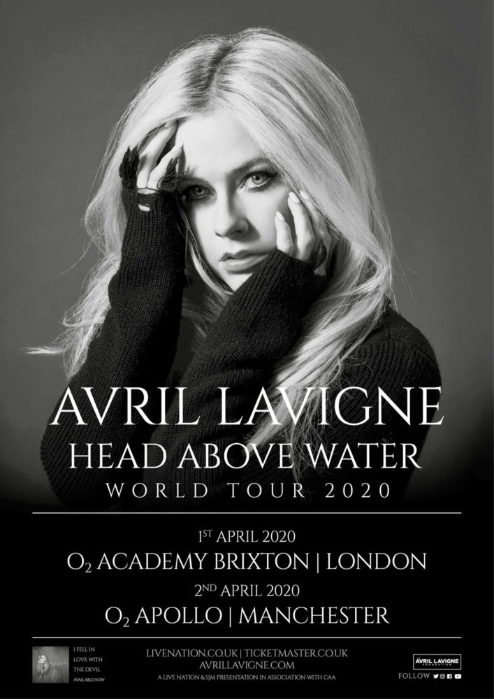 Avril Lavigne 2020 UK Head Above Water Tour Poster