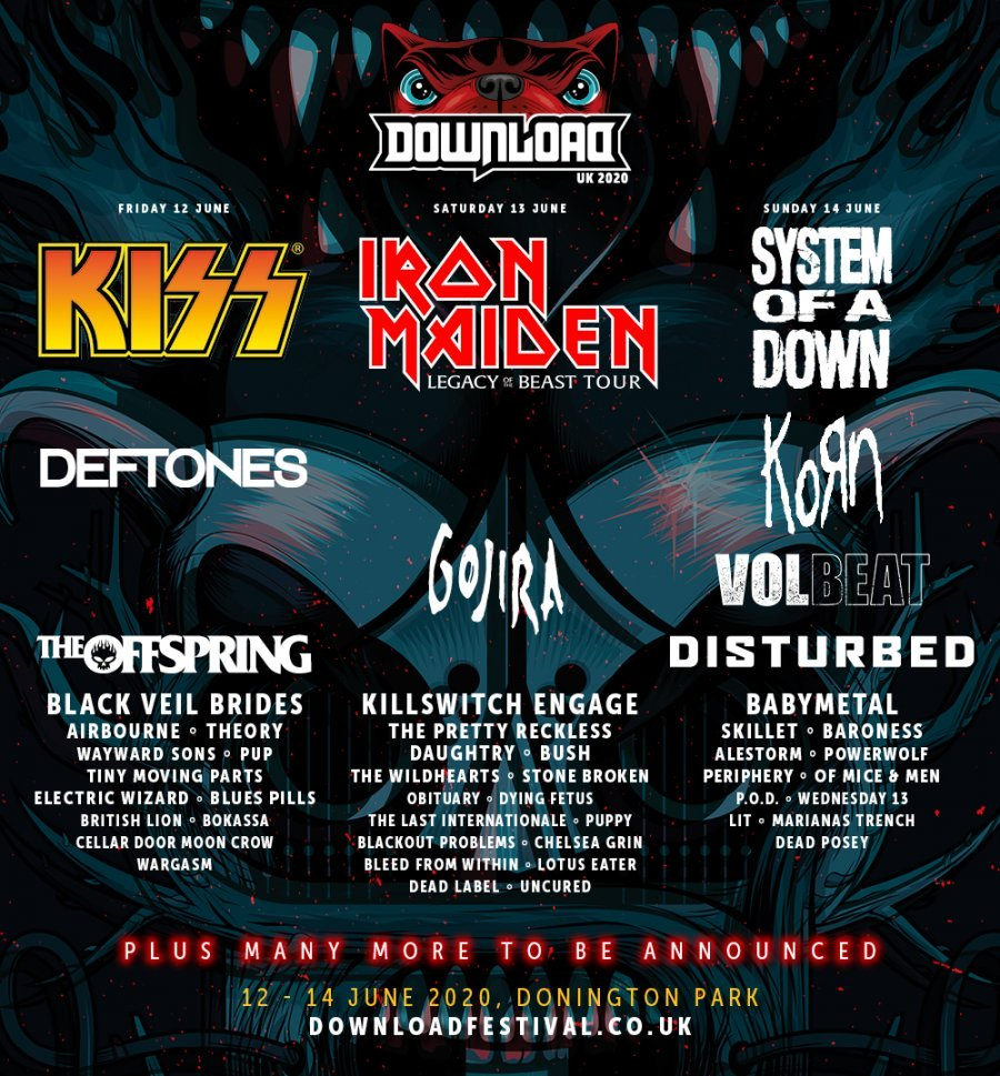Download Festival 2020 - Second Line Up Poster
