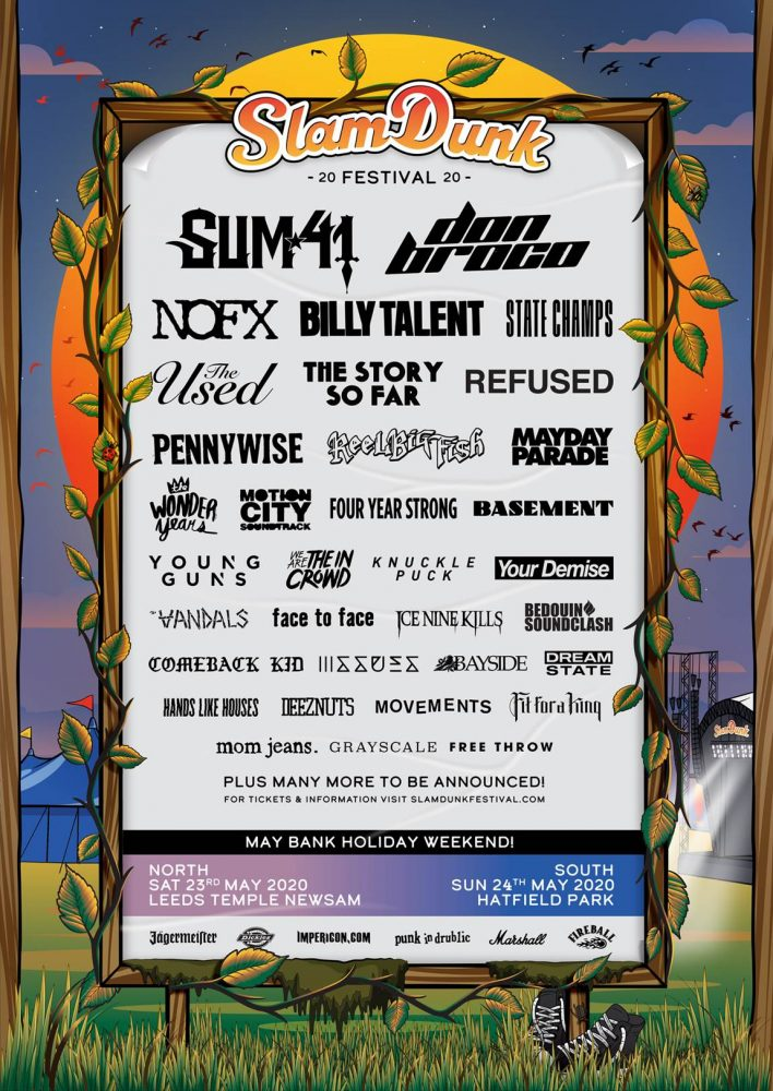Slam Dunk Festival 2020 Third Line Up Poster