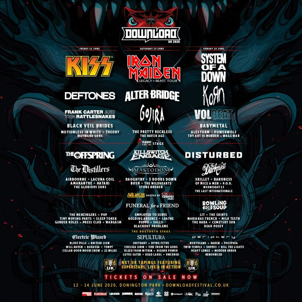 Download Festival 2020 Line Up Poster 4th edition