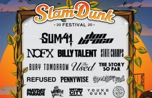 Slam Dunk Festival 2020 Xmas Day Line Up Announcement Header