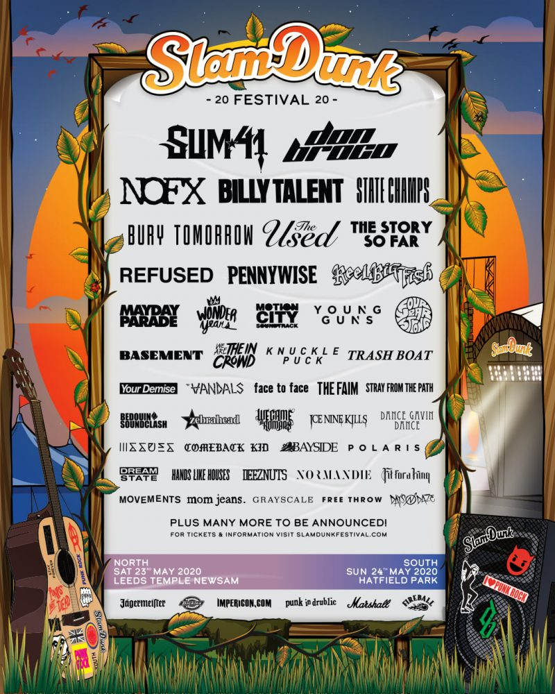 Slam Dunk Festival 2020 Xmas Day Line Up Announcement Poster