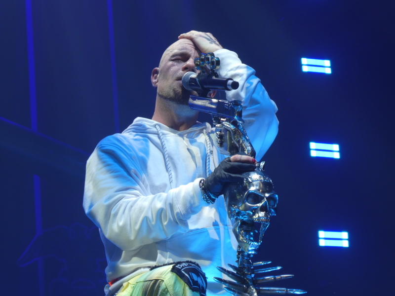 Ivan Moody of Five Finger Death Punch on stage at Wembley Arena, Jan 31st 2020