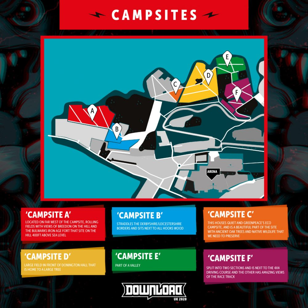 Download Festival 2020 New Campsites Layout