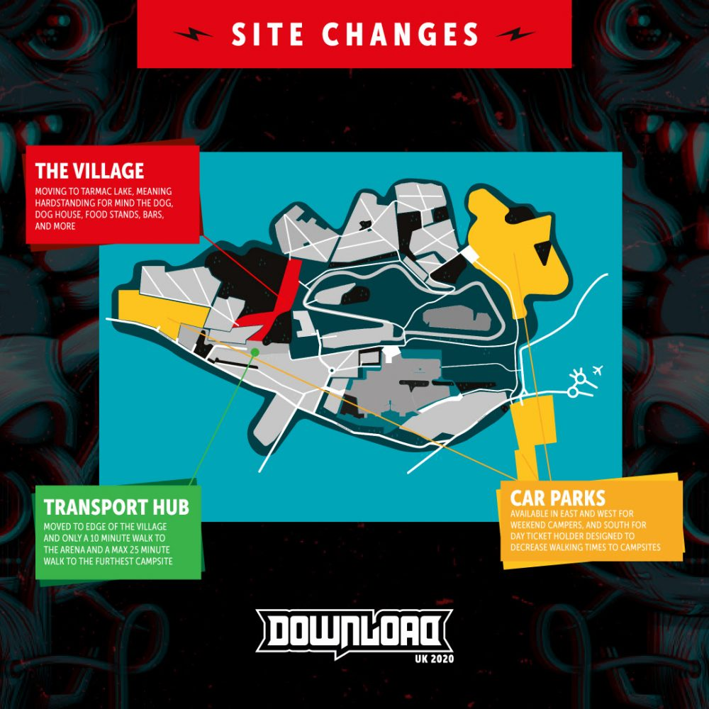 Download Festival 2020 Site Layout Changes