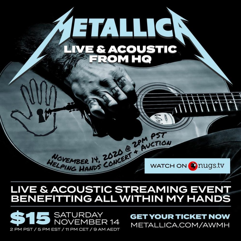 Metallica - Live & Acoustic From HQ Show Poster