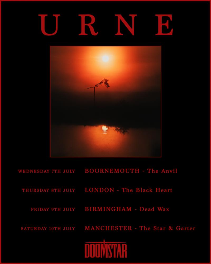 URNE July 2021 UK Tour Poster