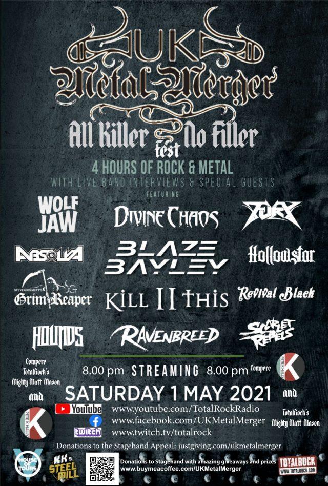UK Metal Merger All Killer No Filler Fest 1st May 2021 Poster