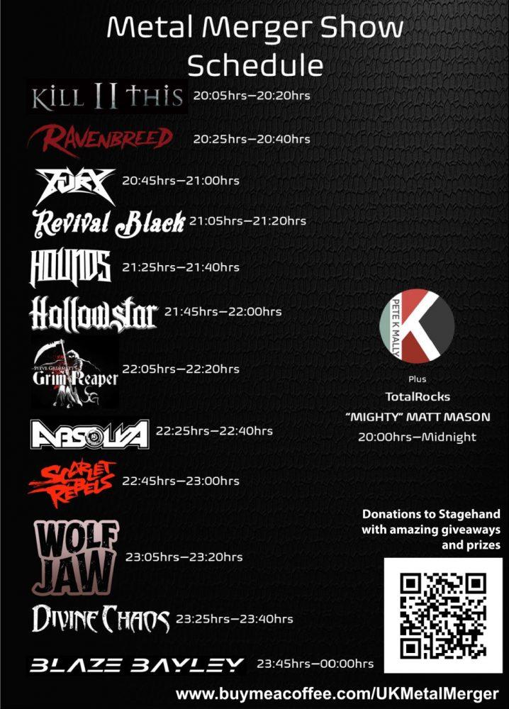 UK Metal Merger All Killer No Filler Fest 1st May 2021 Running Order Poster